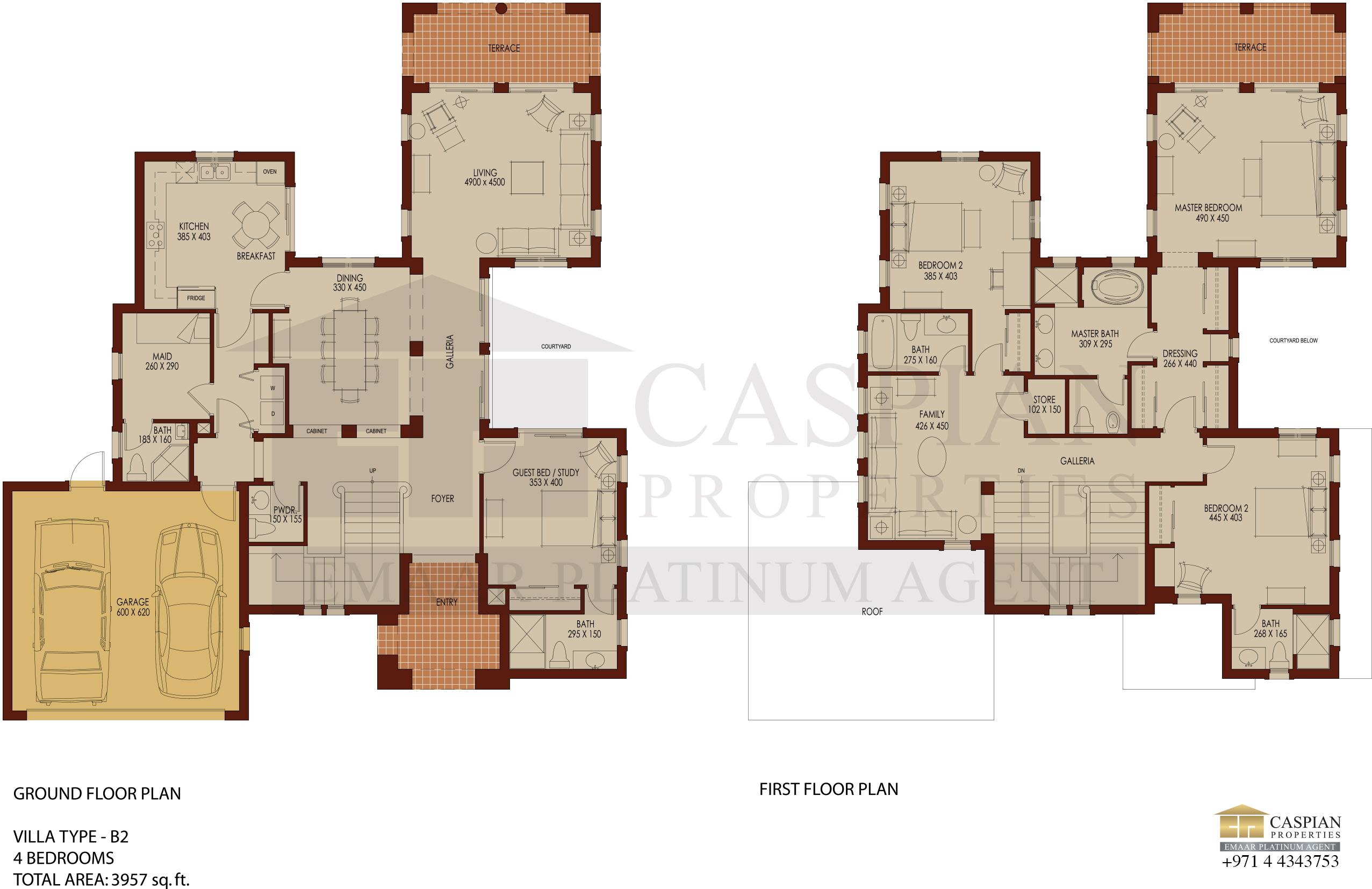 Arabian Ranches Savannah Floor Plans