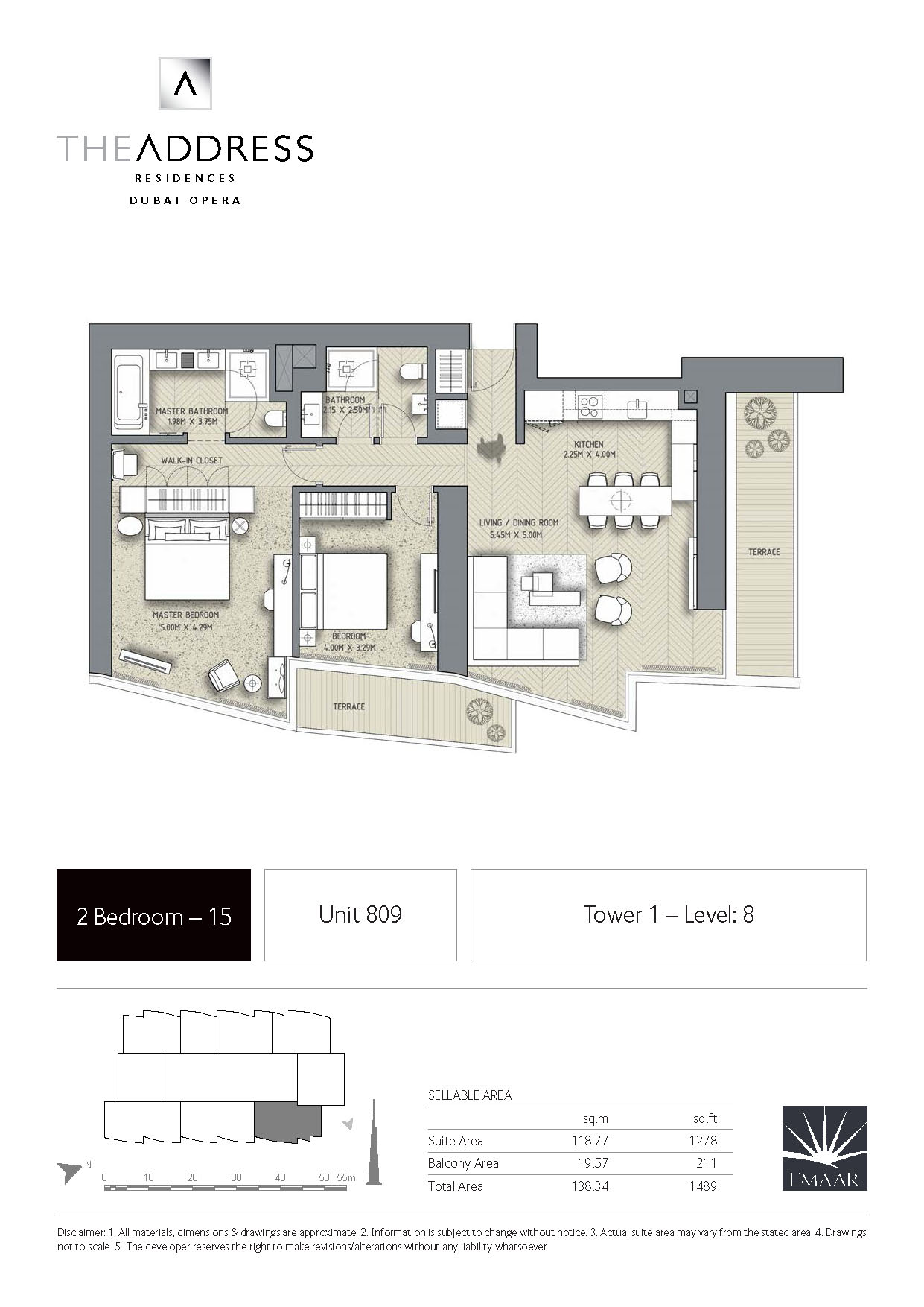 The Address Residence Dubai Opera Tower 1 Floor Plans