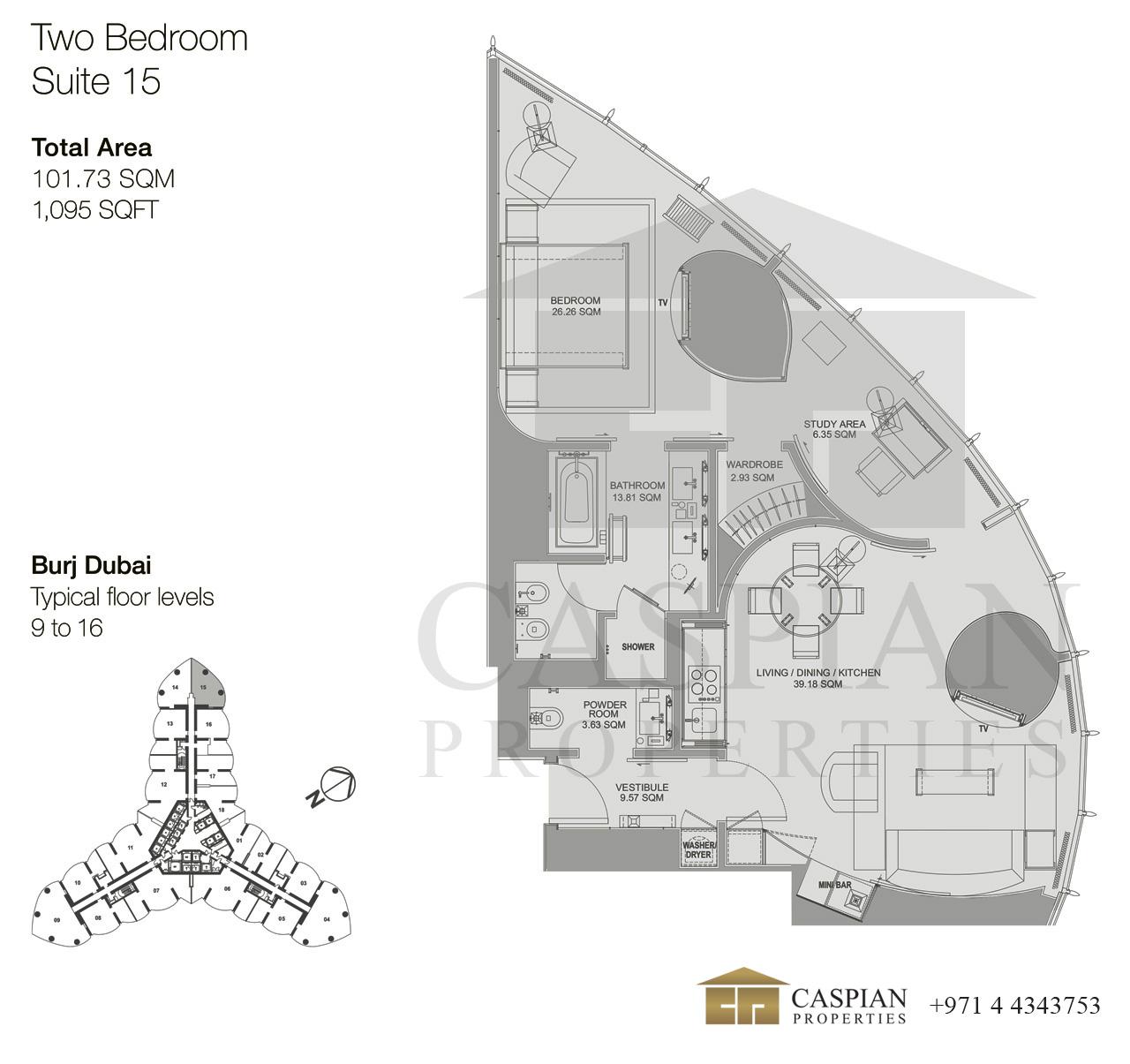 Burj Khalifa Armani Hotel Floor Plans